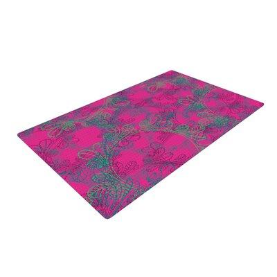 Patternmuse Jaipur Hot Pink/Teal Area Rug Rug Size: 4 x 6