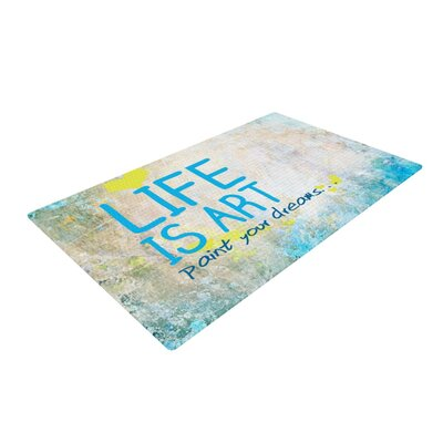 Life is Art Blue/Gray Area Rug
