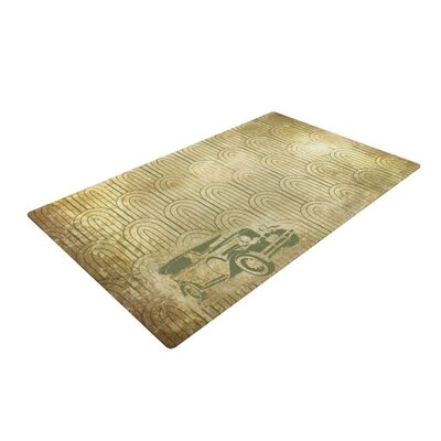 Deco Car Yellow/Beige Area Rug