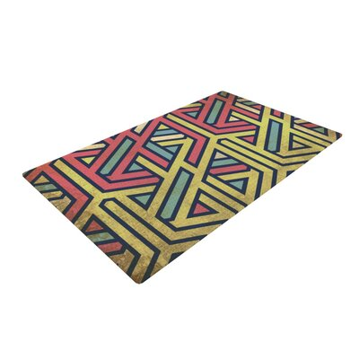 Deco Pink/Yellow Area Rug