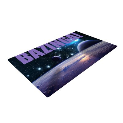 Bazinga Space Purple/Blue Area Rug