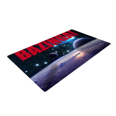Bazinga Red/Purple Area Rug