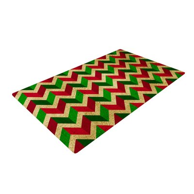 Herringbornaments Red/Green Area Rug
