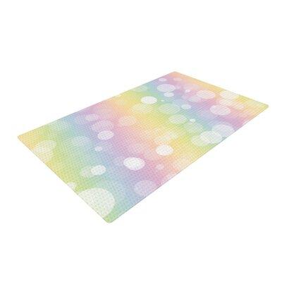Prism Bokeh Pastel Rainbow Area Rug