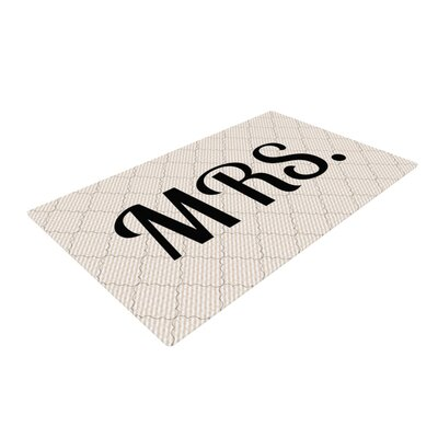 MRS Beige/Black Area Rug