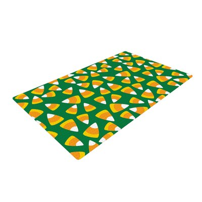 Kandy Korn Green Area Rug