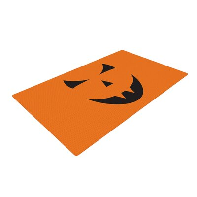 Pumpkin - Trick Orange Area Rug Rug Size: 4 x 6