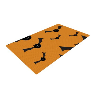 Going Batty Black/Orange Area Rug