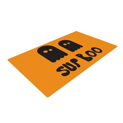 Sup Boo Orange Area Rug Rug Size: 4 x 6