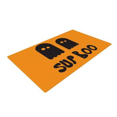 Sup Boo Orange Area Rug Rug Size: 2 x 3