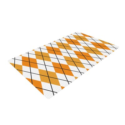 Argyle Day Orange/White Area Rug