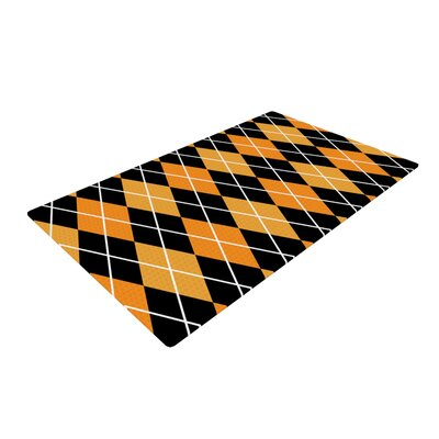 Argyle Night Black/Orange Area Rug
