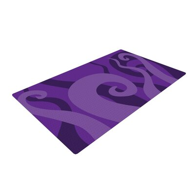 Poor Unfortunate Souls Purple Area Rug Rug Size: 4 x 6