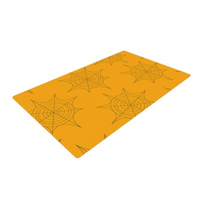 Spiderwebs Yellow Area Rug Rug Size: 4 x 6