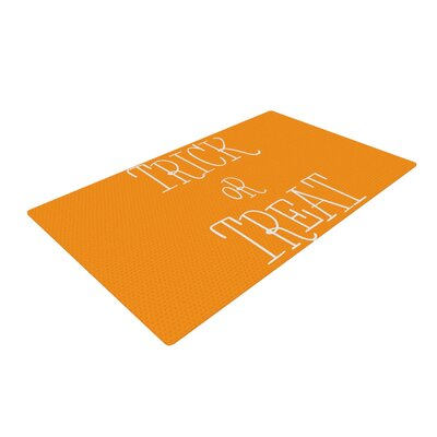 Trick or Treat White Area Rug Rug Size: 4 x 6