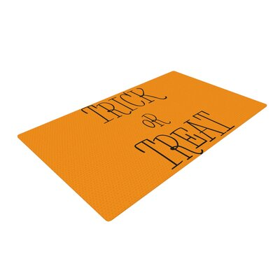Trick or Treat Black Area Rug Rug Size: 2 x 3