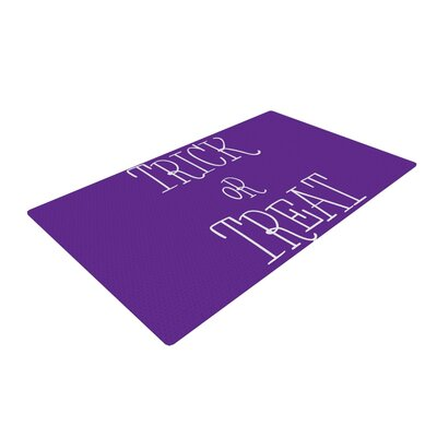 Trick or Treat Purple Area Rug Rug Size: 4 x 6