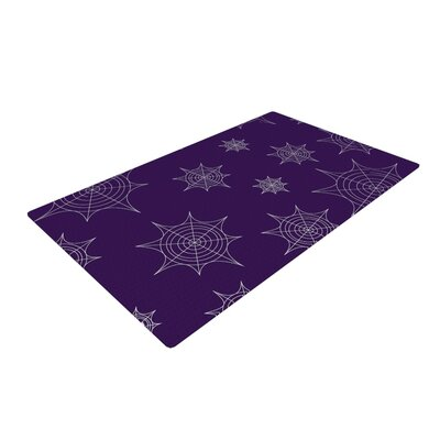 Mini Webs Purple Area Rug