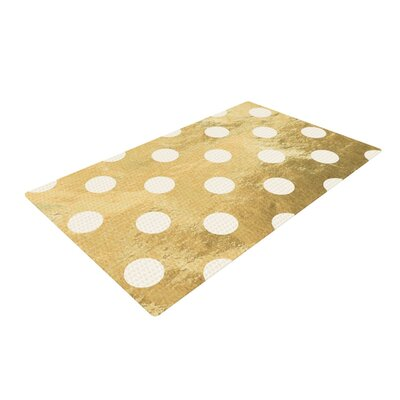 Scattered White Area Rug Rug Size: 2 x 3