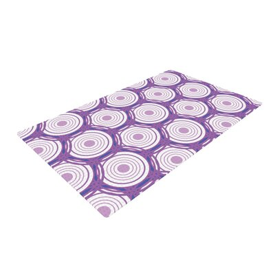 Louise Labyrinth Purple Area Rug Rug Size: 2 x 3