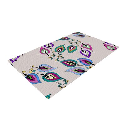 Louise Leave Pink Area Rug Rug Size: 2 x 3