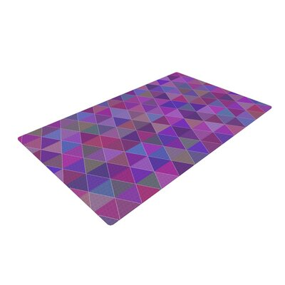 Louise Abstract Purple Area Rug Rug Size: 2 x 3