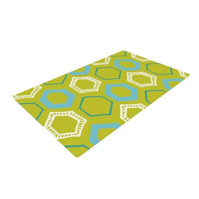 Laurie Baars Hexy Green/Blue Area Rug Rug Size: 4 x 6