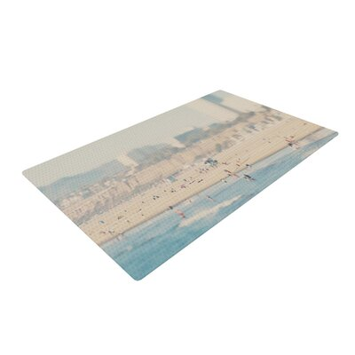 Laura Evans Santa Monica Beach Brown/Blue Area Rug Rug Size: 2 x 3