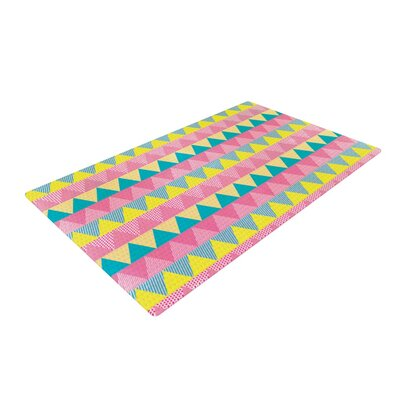 Louise Machado Triangles Yellow/Pink Area Rug Rug Size: 2 x 3