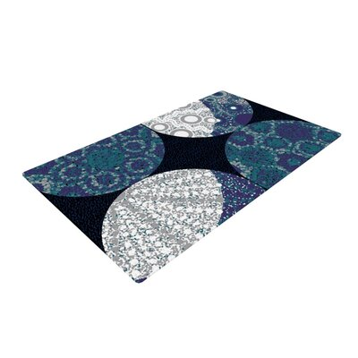 Laura Nicholson Moons Blue/Gray Area Rug Rug Size: 2 x 3