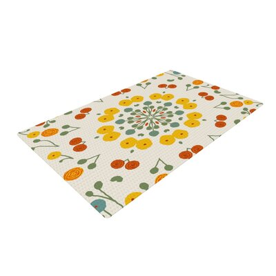 Laura Nicholson Ranunculus Floral Yellow Area Rug Rug Size: 4 x 6
