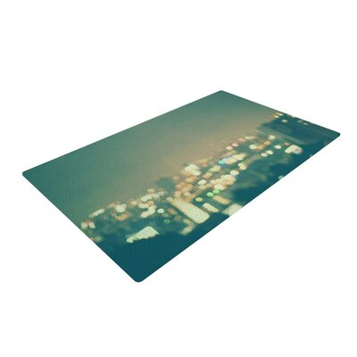 Myan Soffia Anniversary City Lights Blue Area Rug Rug Size: 4 x 6