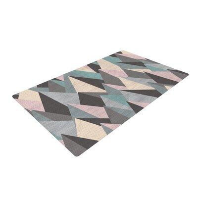 Michelle Drew Mountain Peaks III Geometric Pastel Area Rug Rug Size: 4 x 6