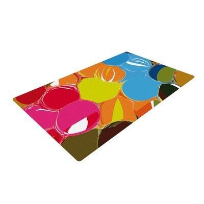 Matthias Hennig Bubbles Circles Rainbow Area Rug Rug Size: 2 x 3