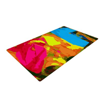 Matthias Hennig Colored Plastic Pink/Yellow Area Rug Rug Size: 4 x 6