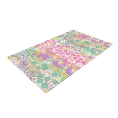 Chickaprint Impression Mix Pastel Area Rug Rug Size: 2 x 3
