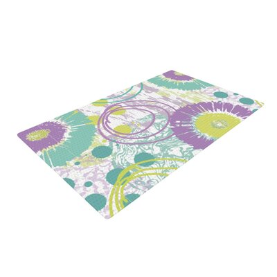 Chickaprint Splatter Purple/Teal Area Rug Rug Size: 2 x 3