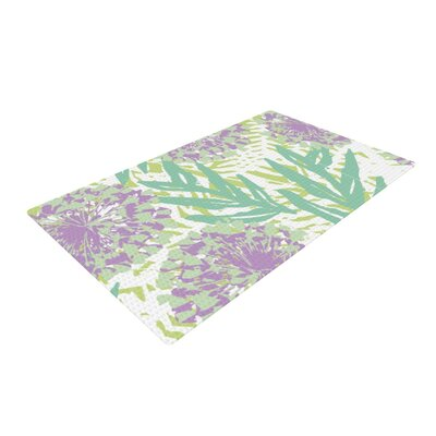 Chickaprint Varen Purple/Green Area Rug Rug Size: 4 x 6