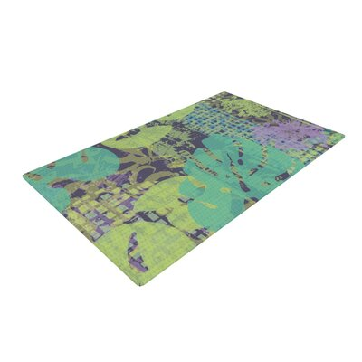 Chickaprint Verdure Collage Green/Teal Area Rug Rug Size: 2 x 3
