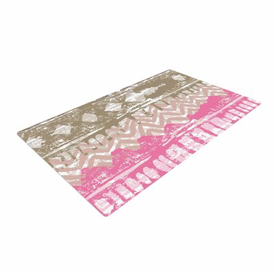 Chickaprint Allegro Pink/Gold Area Rug Rug Size: 4 x 6