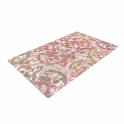 Chickaprint Chintz Gold/Pink Area Rug Rug Size: 4 x 6