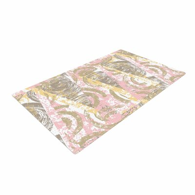 Chickaprint Scrubs Pink/Gold Area Rug Rug Size: 2 x 3