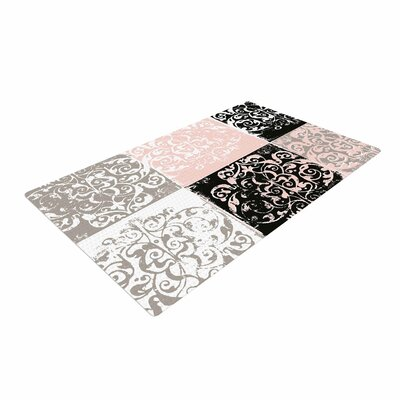 Chickaprint Damaskmix Pink/Gray Area Rug Rug Size: 2 x 3