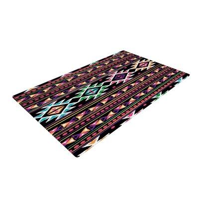 Nika Martinez Aylen Black Area Rug Rug Size: 4 x 6