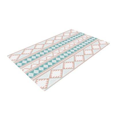 Nika Martinez Yerbabuena Aqua/Pink Area Rug Rug Size: 4 x 6