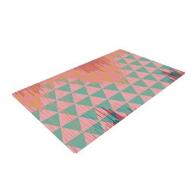 Nika Martinez Ikat Geometrie II Green/Pink Area Rug Rug Size: 2 x 3