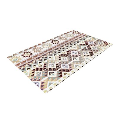 Nika Martinez Tribal Native Pastel Brown Area Rug Rug Size: 2 x 3