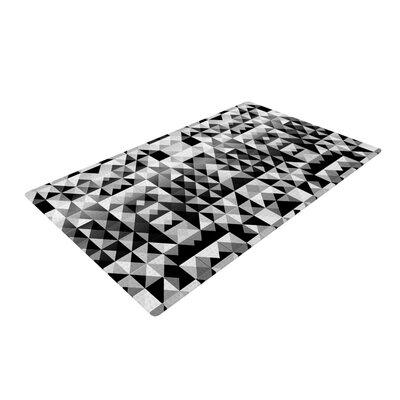 Nika Martinez Geometrie Black/White Area Rug Rug Size: 4 x 6
