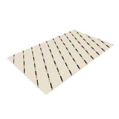 Nika Martinez Glitter Diagonals Tan Area Rug Rug Size: 4 x 6