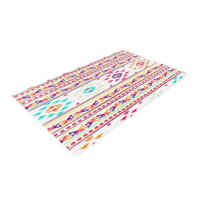 Nika Martinez Aylen Tribal Pink/Blue Area Rug Rug Size: 4 x 6